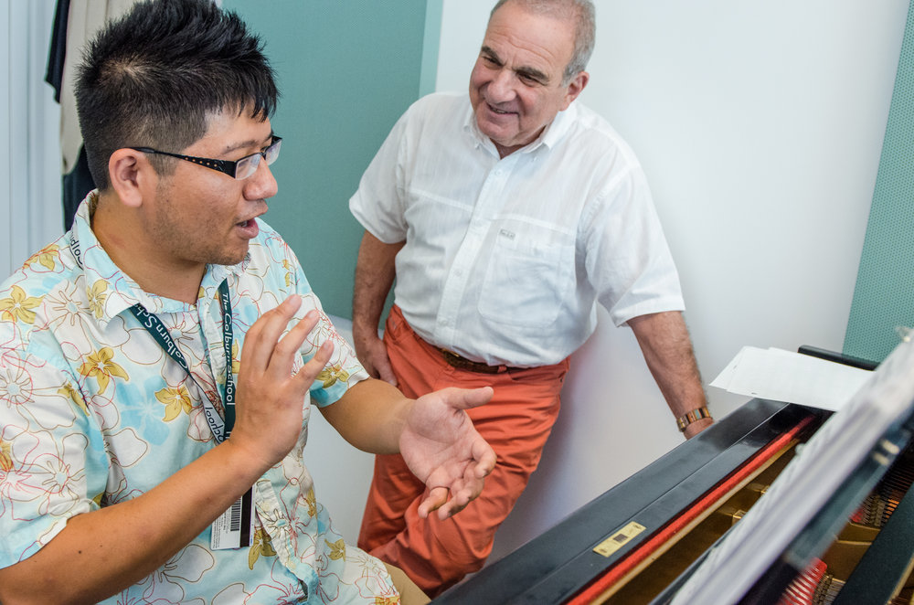Martin Katz in a private coaching with 2015 pianist Neilson Chen.