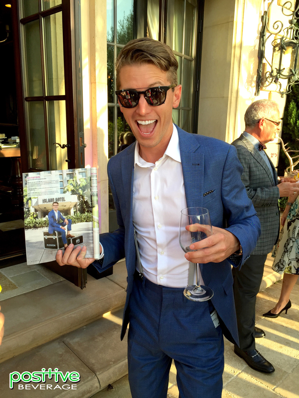 Honoree Austin Knight Johnston with the August edition of Orange Coast Magazine.