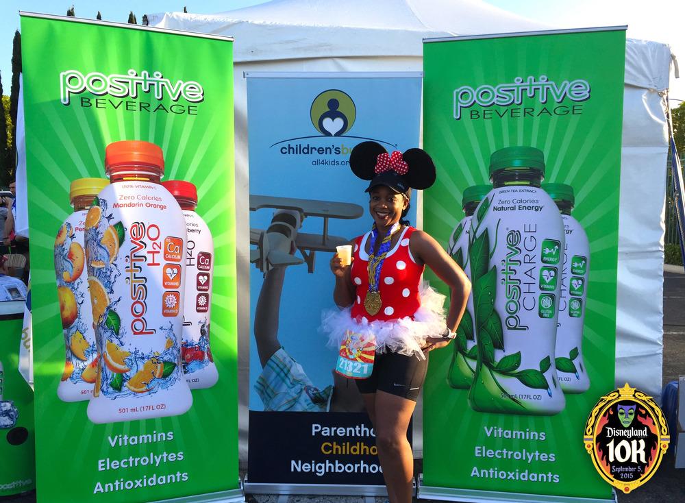 Positive Beverage  at the 2015 Disneyland 10K