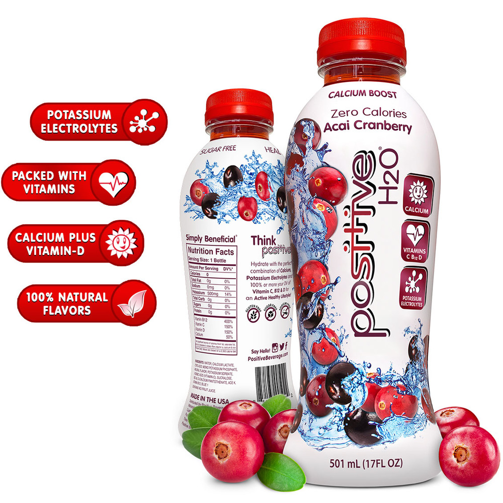 Positive H2O Acai-Cranberry Beverage