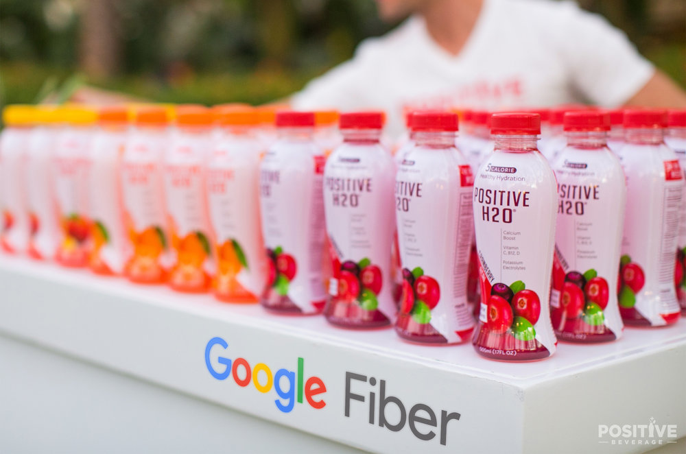 Google Fiber United States Launch Hydrated by Positive Beverage