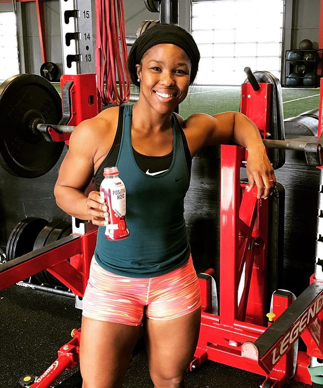 Sable Otey training for the 2018 Winter Olympic Games hydrated by Positive H2O from  Positive Beverage