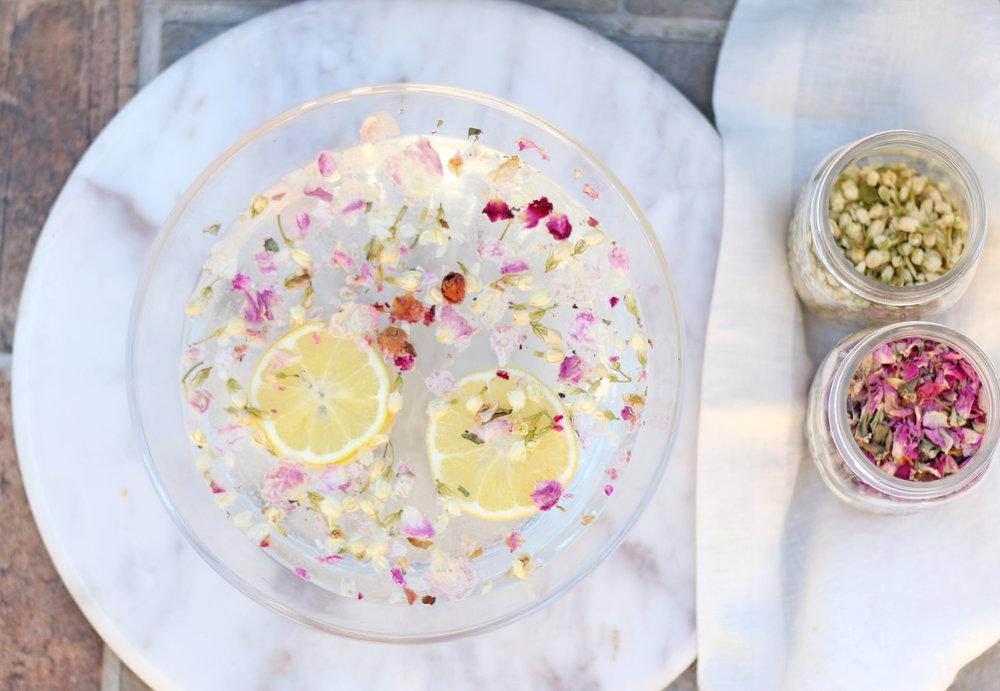Rose Jasmine Lemon Botanical Facial Steam