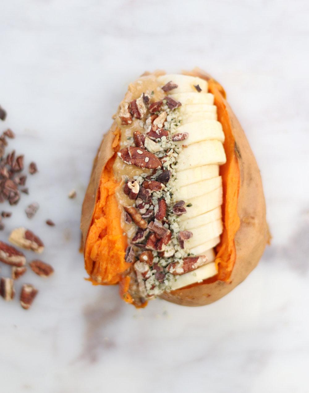 stuffed breakfast sweet potato