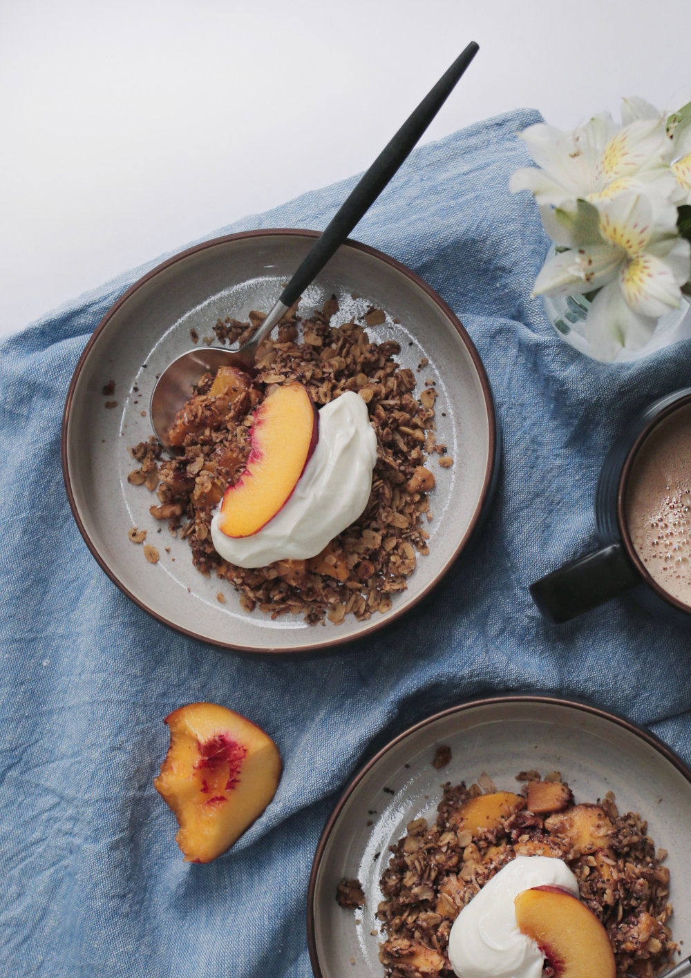 Peachy Oatmeal Bake | Purposeful Plate