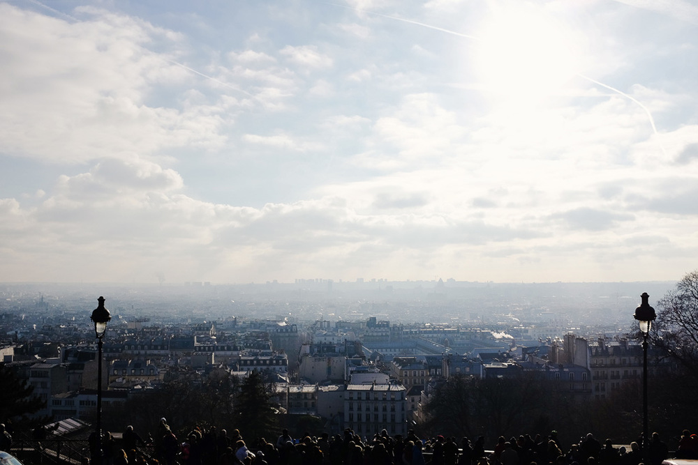 Paris view from the Sacre Coeur