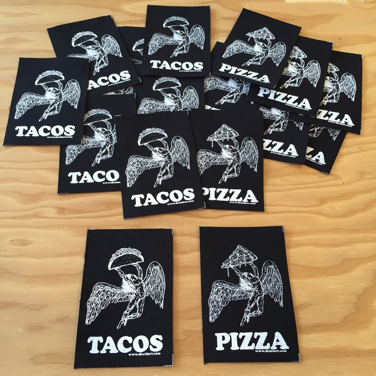 Top Pizza Crust & Crunchy Taco Patches in the store — DROID art KX39