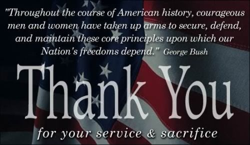 Freedom is not free….. Support our Veterans