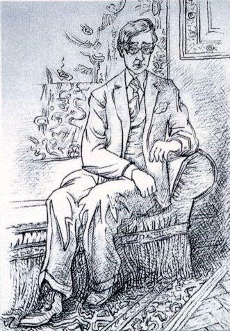 Konstantine Kavafis by N. Hatzikyriakos-Gikas