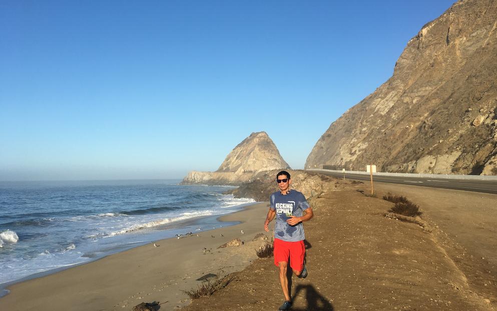 Morning run in Malibu