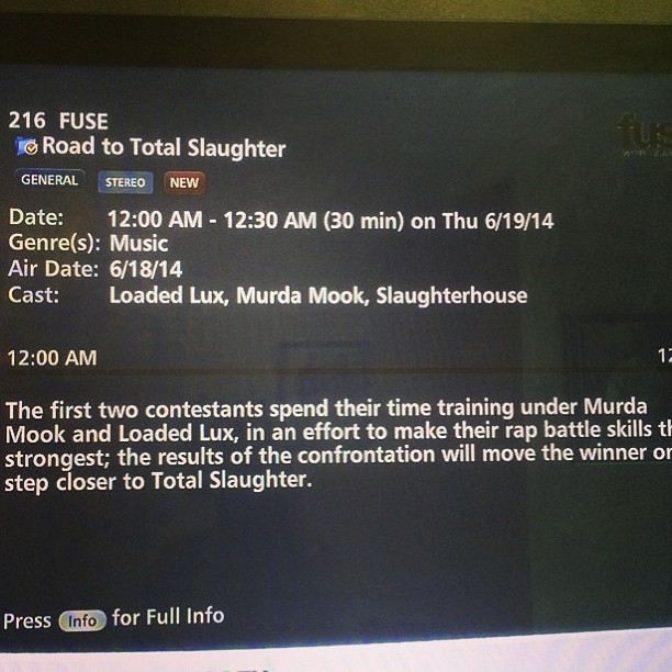 Tune into #Fuse this Thursday 6/19! Road to Total Slaughter premiere! Directed & Co-Produced by #CapitolAgentMedia! #hiphop #realitytv #shadyrecords #eminem #slaughterhouse #battlerap #fusetv