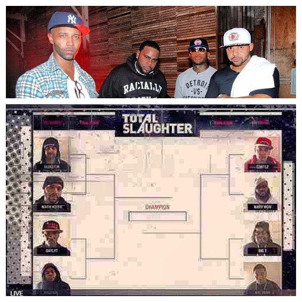 """""""Road To Total Slaughter"""" just announced! Proud to be Directing & Co-Producing Shady Records upcoming Reality TV show! Featuring #Slaughterhouse & some of the dopest battlers in the world! #hiphop #rap #battle #shadyrecords #capitolagentmedia"""