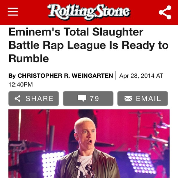 #Eminem Presents: Total Slaughter! We're excited to have been an integral part of its development as Directors & Co-Producers! Stay tuned for the event & Reality Show to be aired on @watchloud! #hiphop #rap #music #TotalSlaughter #watchloud #rollingstone