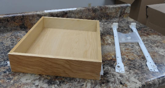 "Drawer 1-6: Drawer box for 18""W x 18""D w/slide set    $5.00 each or $25.00/6"