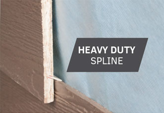 Rigid™ Siding is designed with a spline to stack and lock together, plus all the benefits of lap siding.