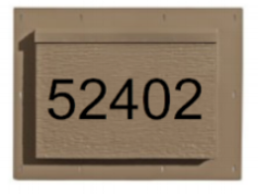 Identify your home with a Personalized RigidMount™. These can hold up to five numbers routed in either black or white.