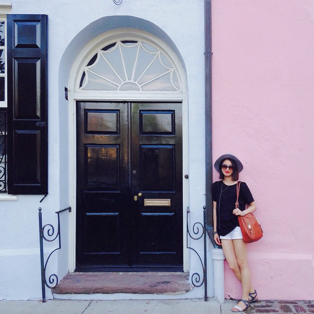Charleston chic on Rainbow Row