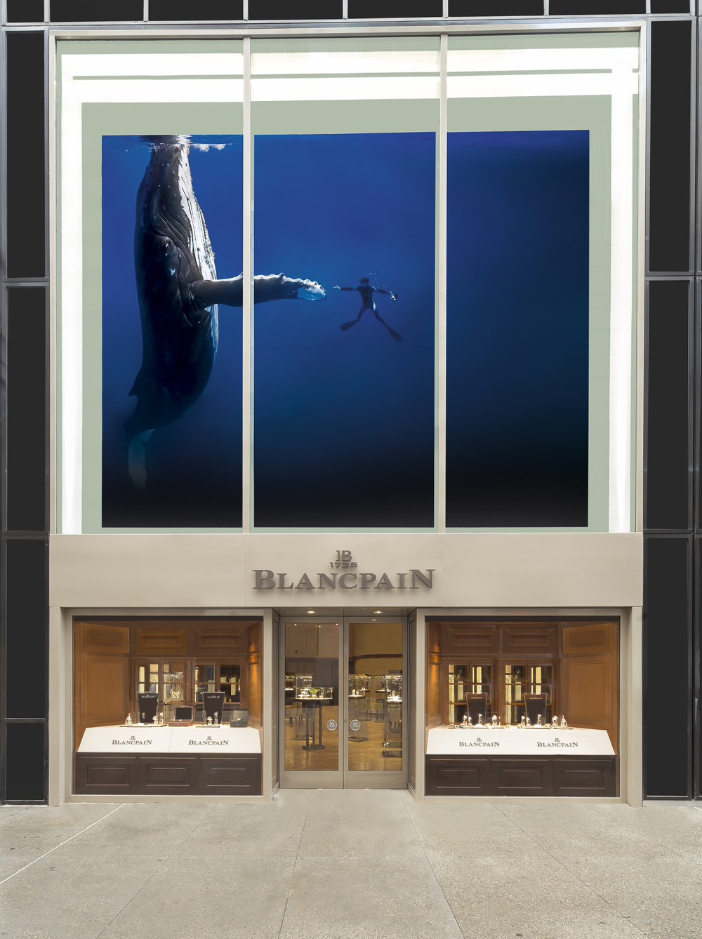 Street-Level View Of The New 5th Avenue Blancpain Boutique
