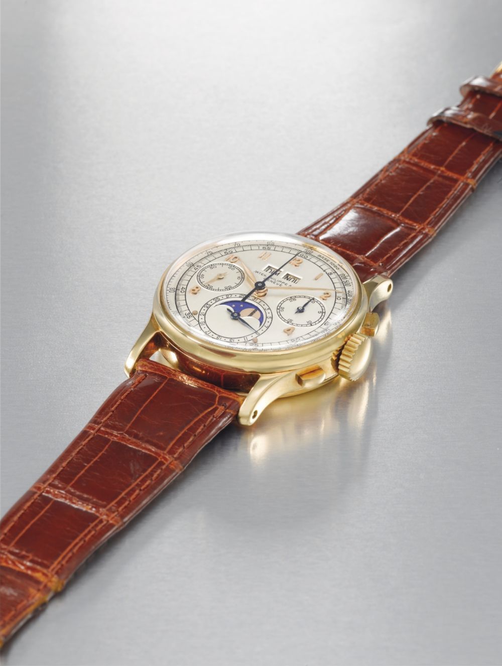 "The ""King Farouk"" Patek Philippe Reference 1518. Estimate: 300,000-500,000 CHF"