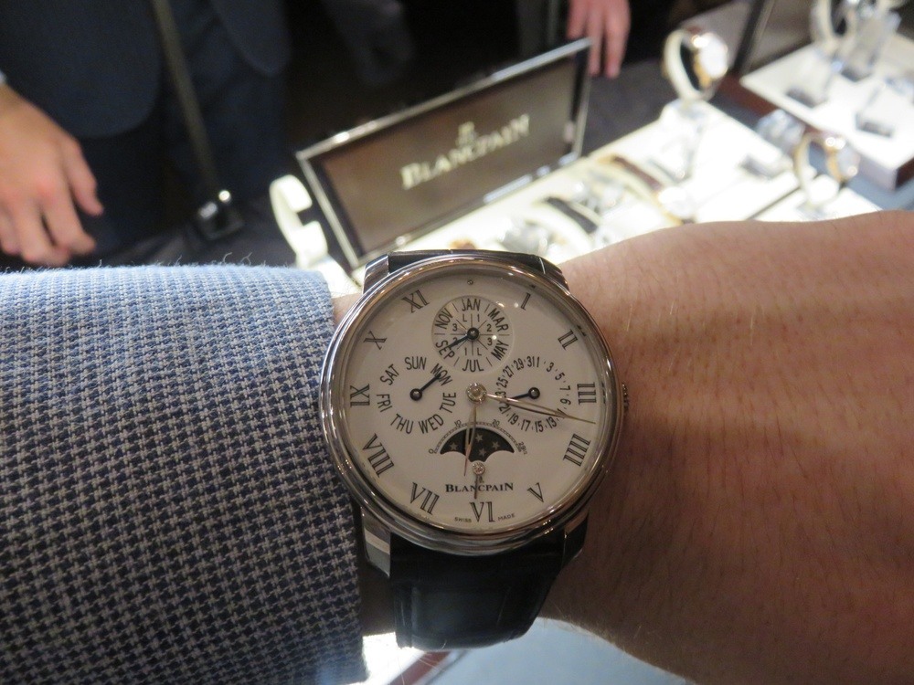 A Shot On The Wrist Of Blancpain's Quantieme Perpetuel 8 Jours