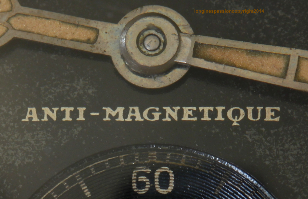 "Close-up of ""A nti-magnetique"" Written On The Dial"