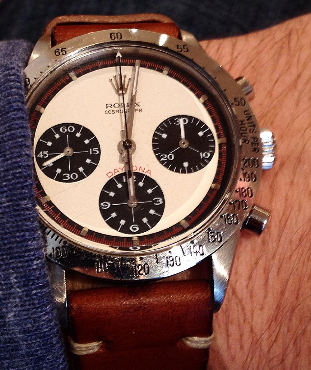 A Rolex Paul Newman Daytona Reference 6239 ($125,000).