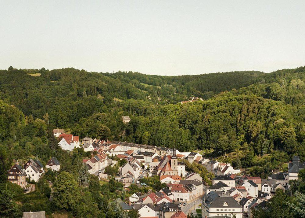 Overlooking Glashütte, Saxony (Germany).