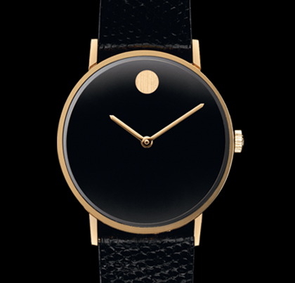 the  museum watch.  from the early stages of Movado's transition to modern designs.