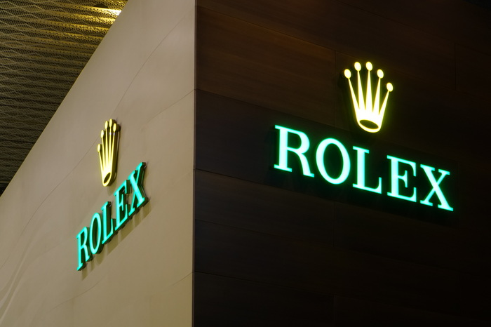 Rolex's Basel World booth.