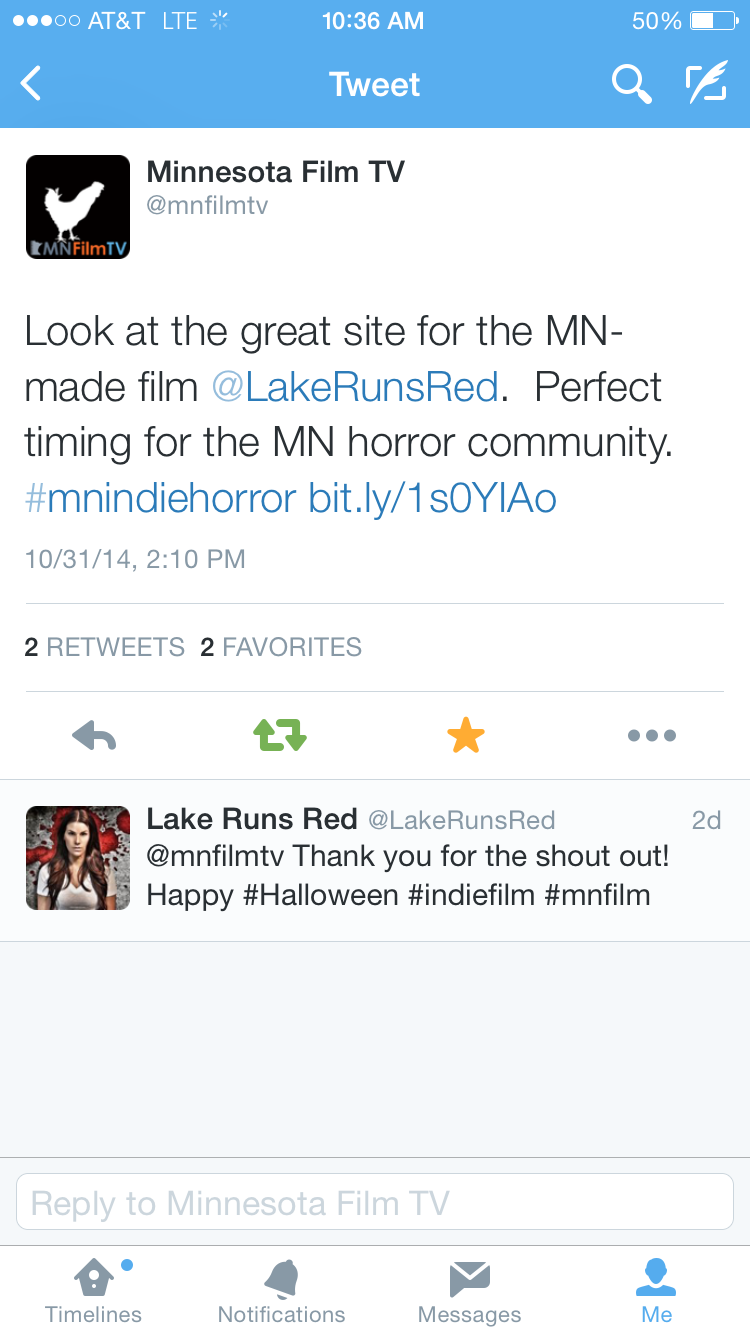 Lake Runs Red MN Film and TV