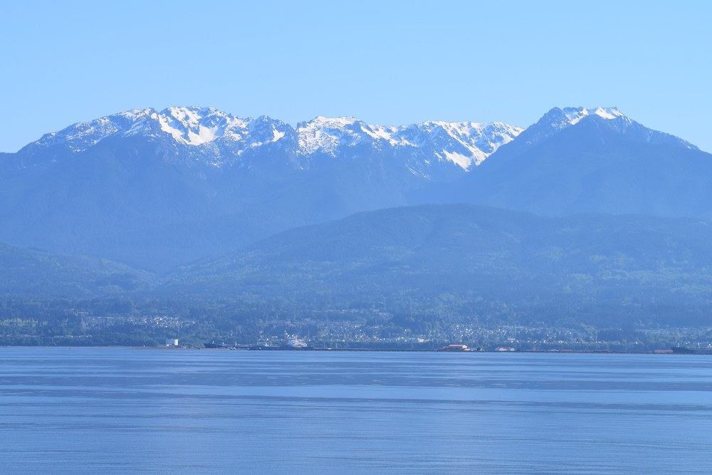 The Olympic Mountains as we approach Port Angeles