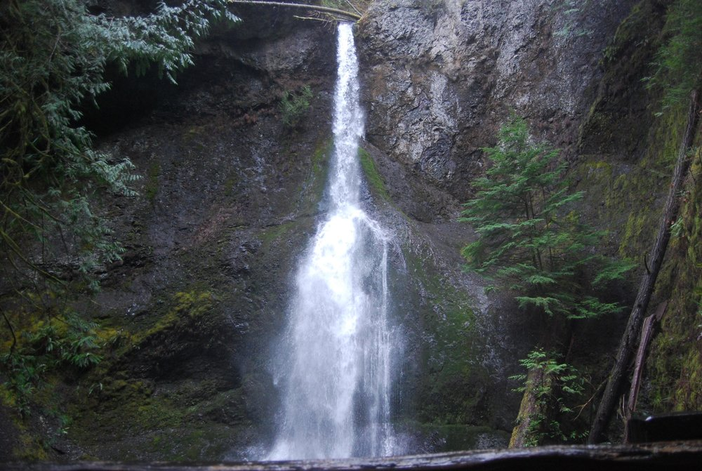 First viewpoint of Marymere Falls