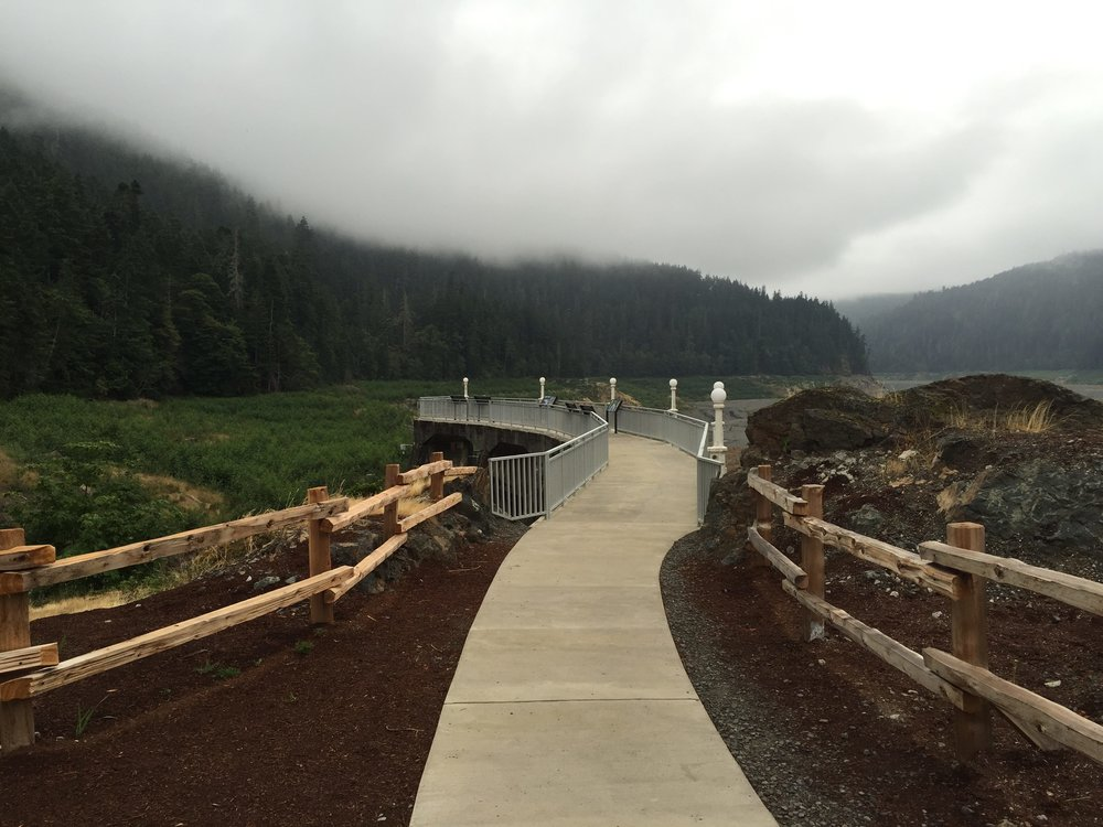 Pathway to the Glines Canyon Dam Removal Site