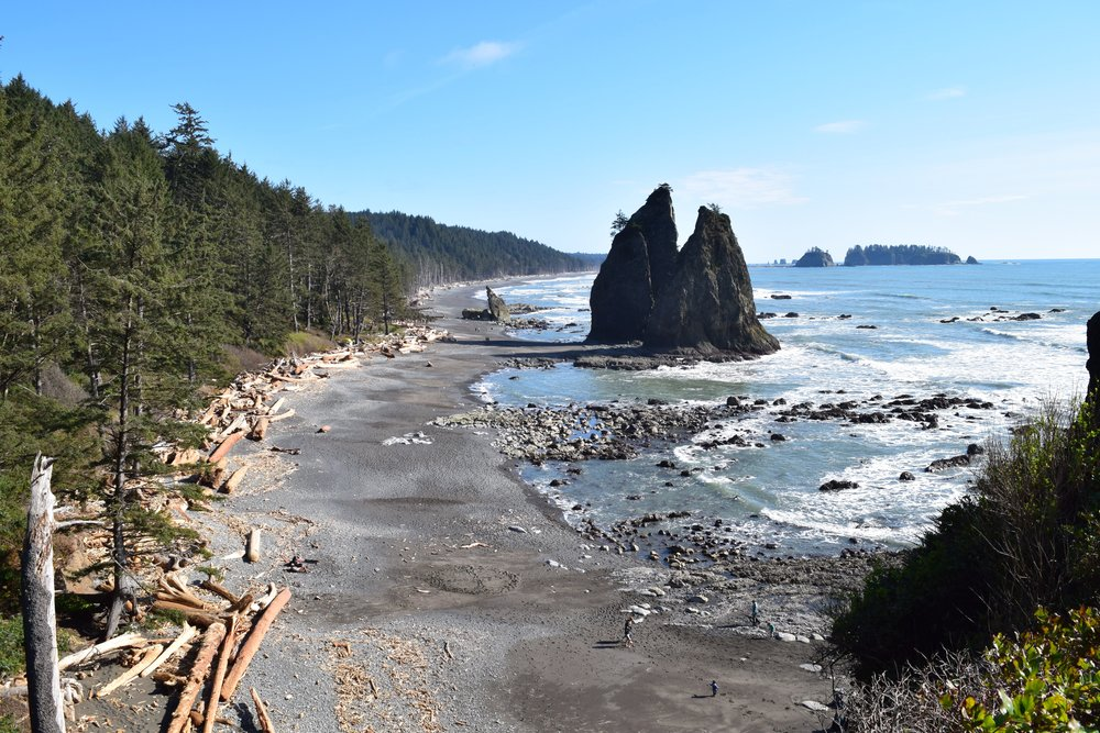 An Aerial View of Rialto Beach