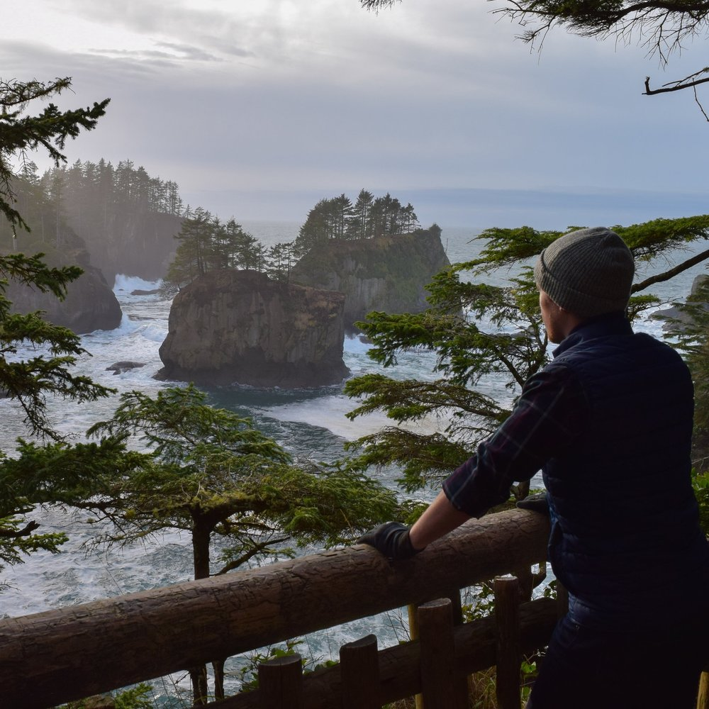 The first viewpoint from the Cape Flattery Trail