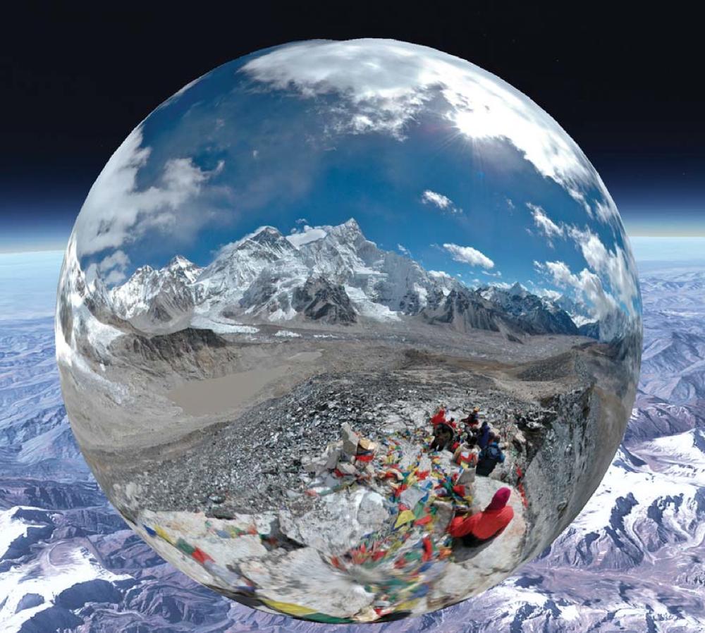 Mt. Everest Base Camp. Pano-bubble photo: Tito.