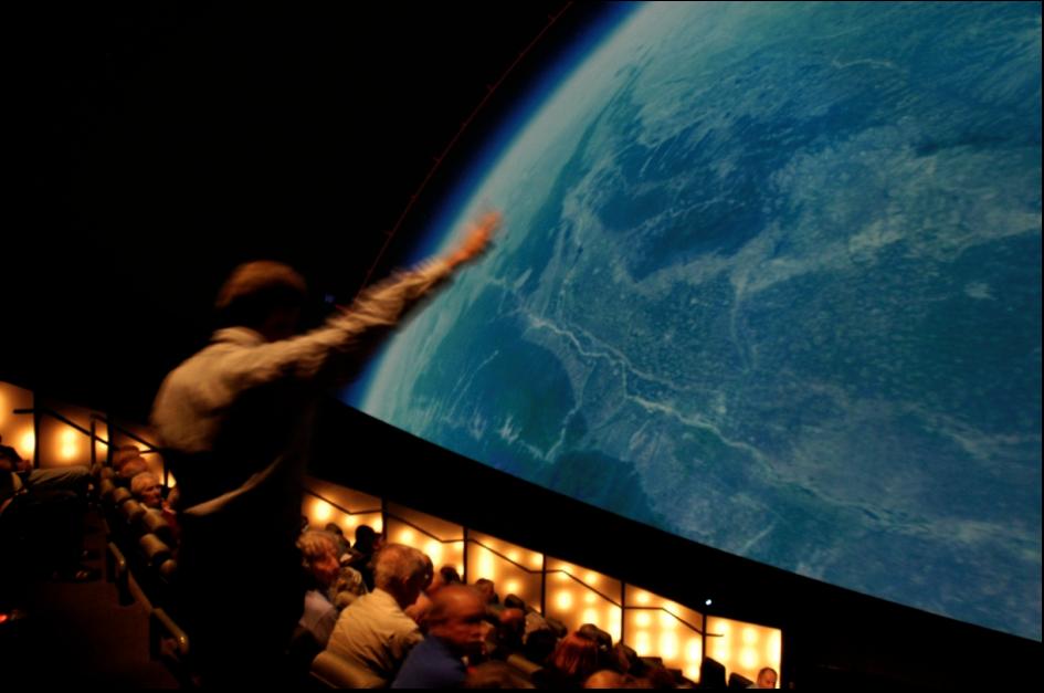 Bob Raynolds at The Gates Planetarium, Denver Museum of Nature and Science. Photo: Ka Chun Yu