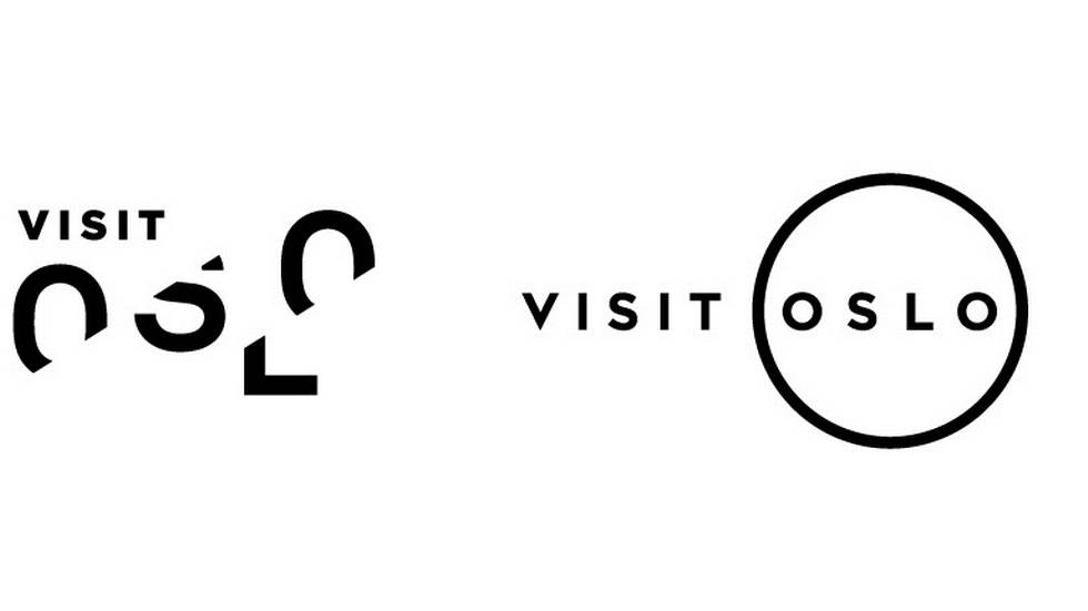 The two logo designs for Visit Oslo that are up for voting.