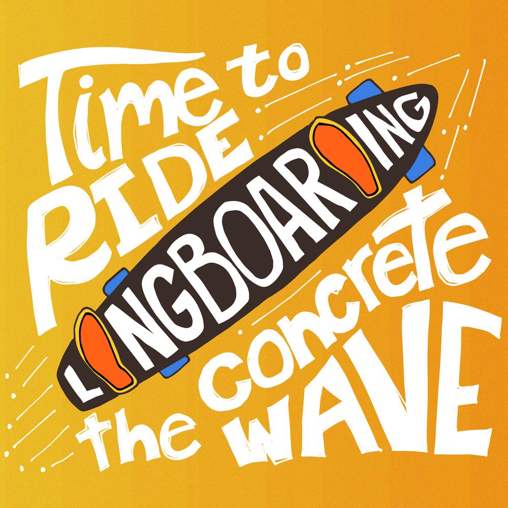 Nav's longboarding doodles