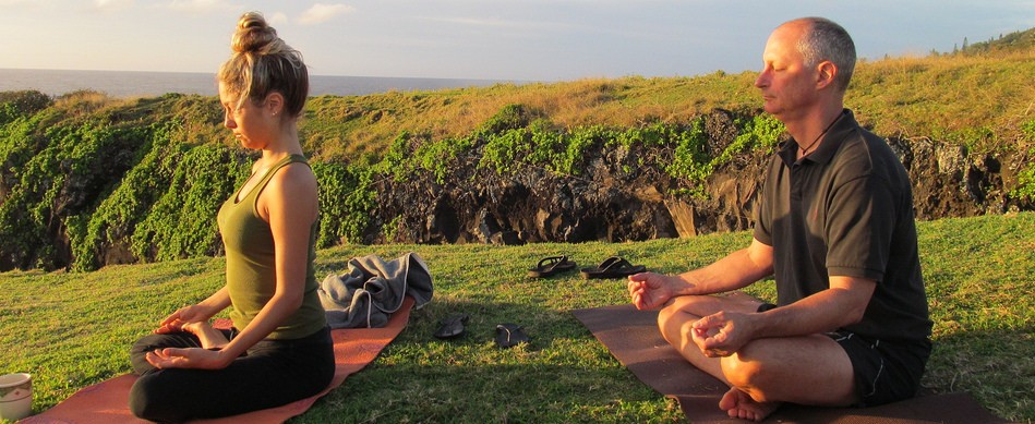 Sunrise Yoga from our front yard!