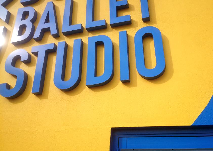 Dubbo Ballet Studio  3D lettering