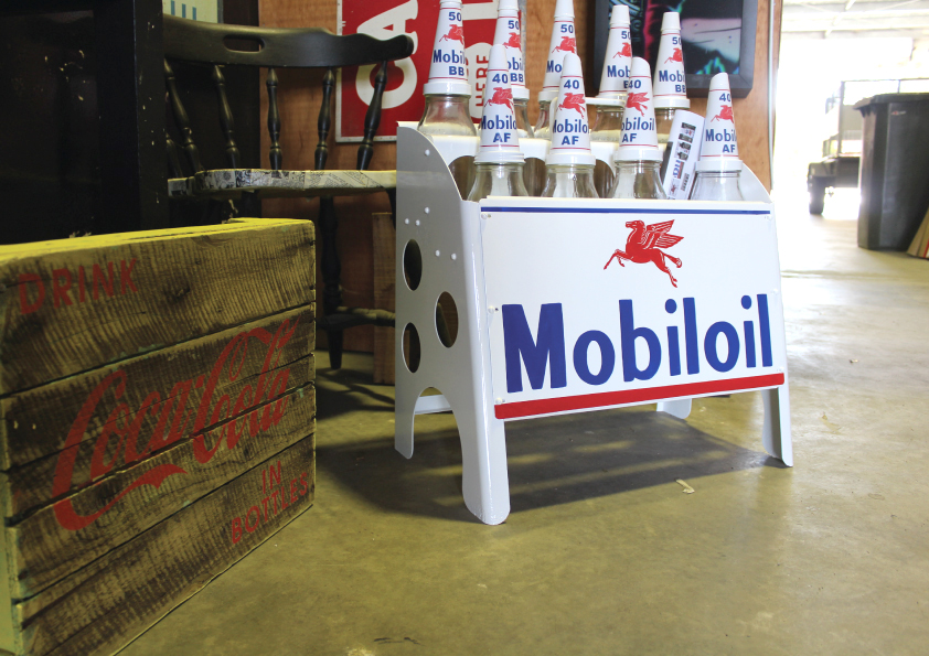 handpainted mobiloil rack