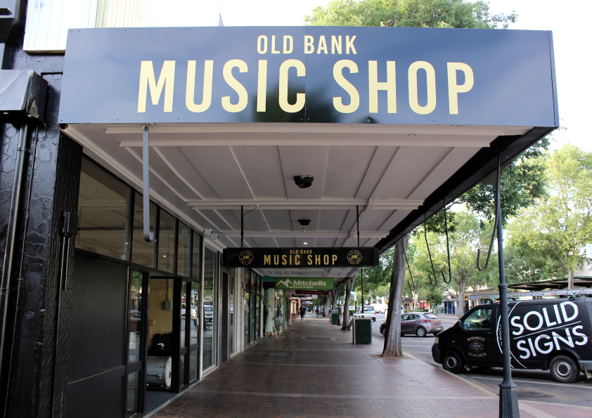 old bank music shop