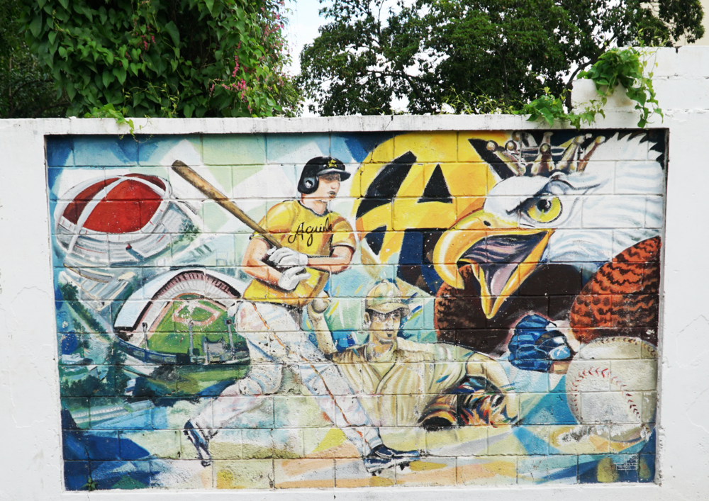 Aguilas Cibaeñas, one of the national baseball teams / Las Águilas Cibaeñas, uno de los equipos nacionales de baseball - Calle Manuel Battle, Centro de la Ciudad
