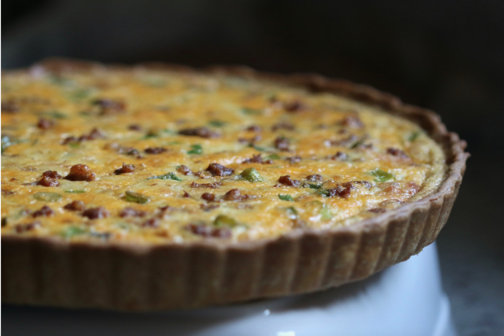 Chorizo and green onion tart.png