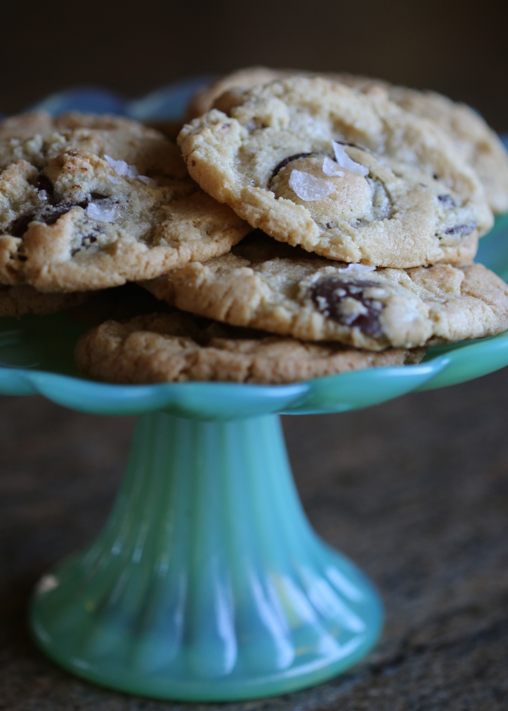 Gluten Free Salted Chocolate Chip Cookies