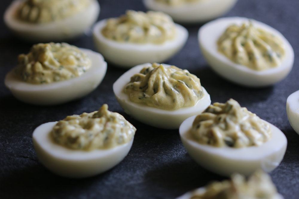 Chimichurri Deviled Eggs