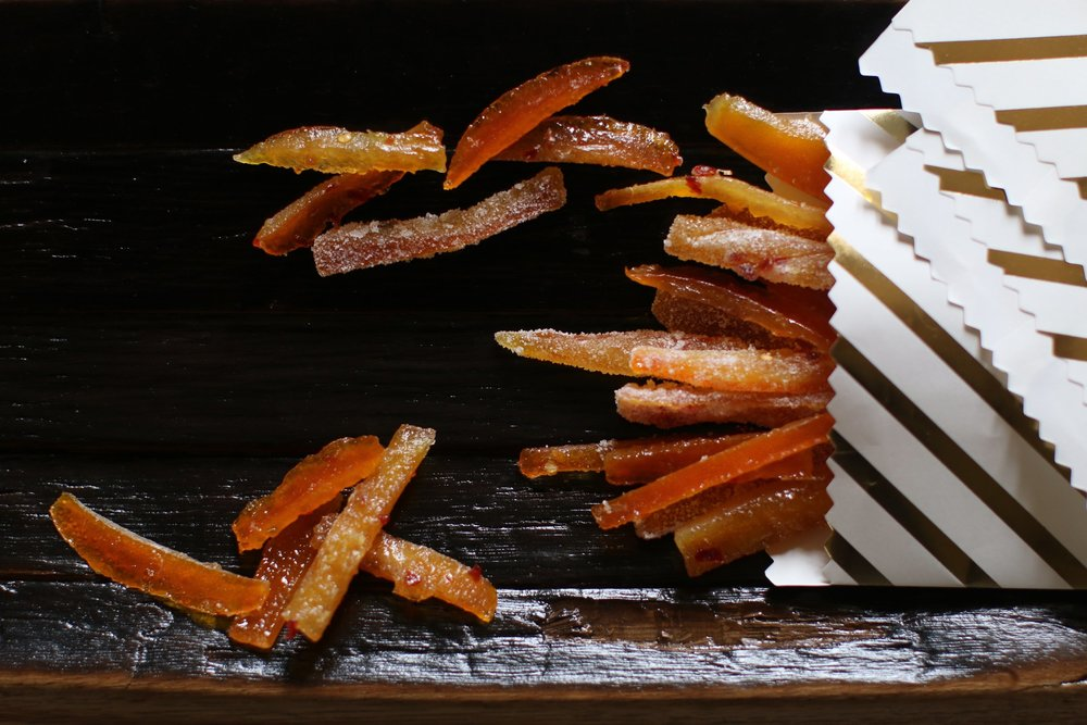 Spicy Candied Orange Peel