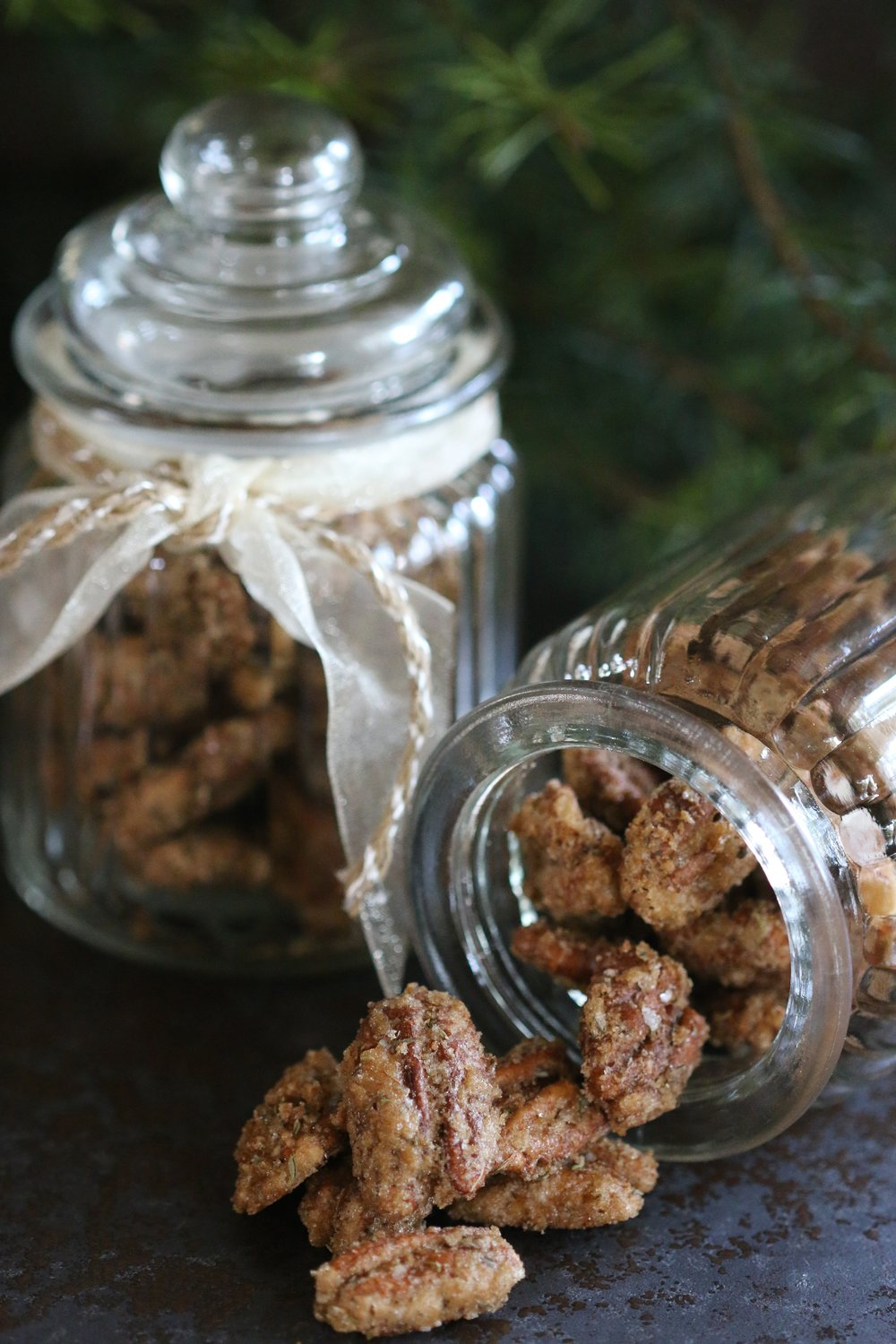 Candied Thyme Pecans
