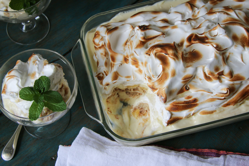 Here's More - Banana Pudding with Toasted MeringueRecipe coming in April